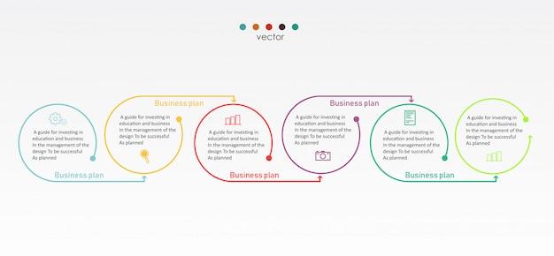 Schemat biznes i edukacja ilustracji wektorowych
