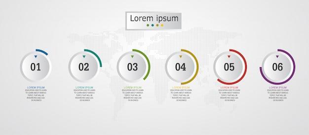 Schemat biznes i edukacja infografika szablon