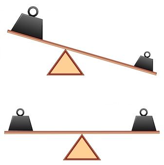 Schemat przedstawiający ważenie na belkach