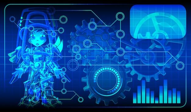 Schemat sztucznej inteligencji dla androida.