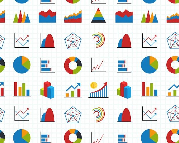 Schemat wykresów i diagramów
