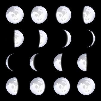Schematy faz księżyca