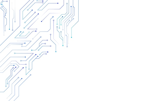 Schematy obwodów w tle białej technologii