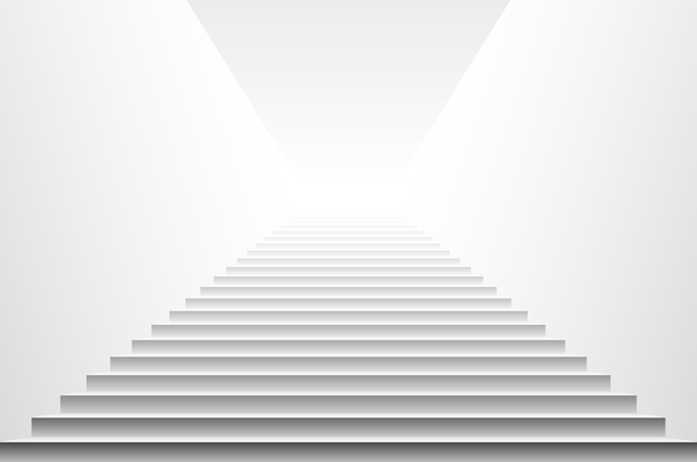 Schodki odizolowywający na białym tle. kroki. ilustracji wektorowych