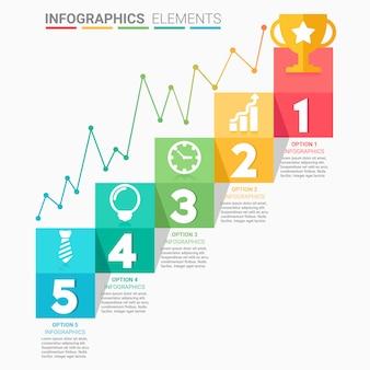 Schody biznesowe infografiki