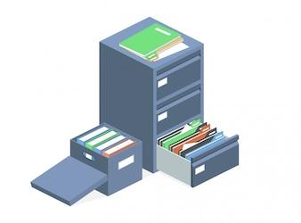 Schowek na archiwum plików szafek dokumentów