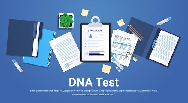 Schowki dokumentują foldery z testami genetycznymi dna i raportami klinika badania i testy leczenia medycznego