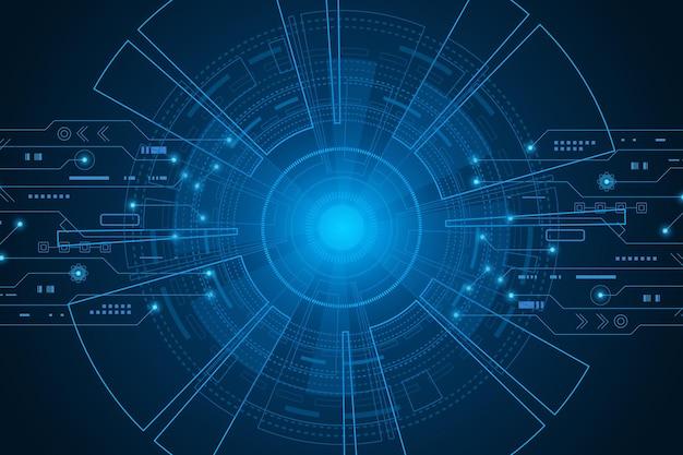 Sci fi futurystyczny interfejs użytkownika hud technologia abstrakcyjne tło ilustracja wektorowa