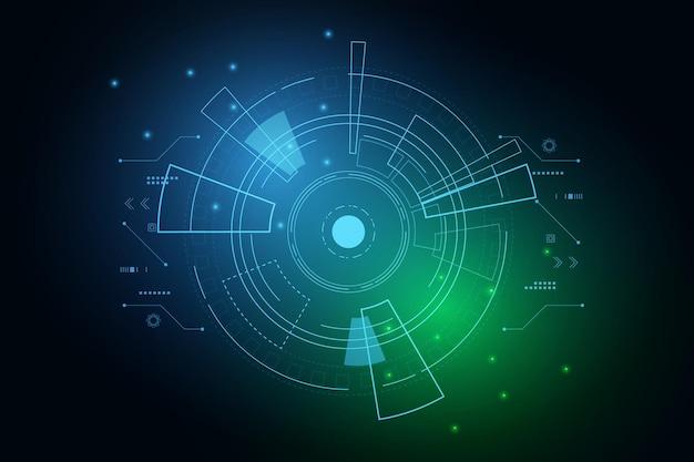Sci fi futurystyczny interfejs użytkownika technologia hud abstrakcyjna ilustracja