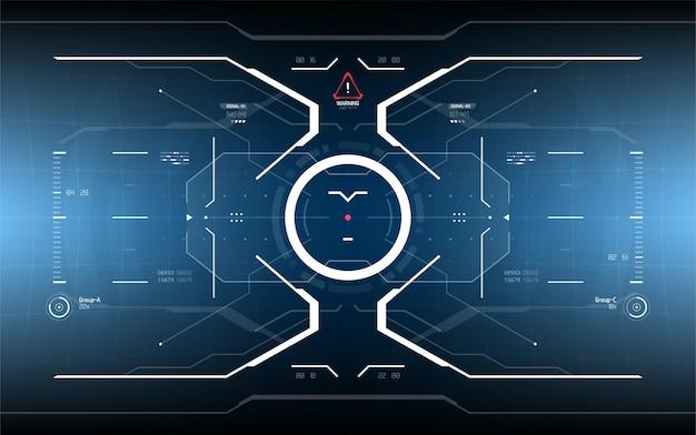 Sci-fi futurystyczny świecący wyświetlacz hud.