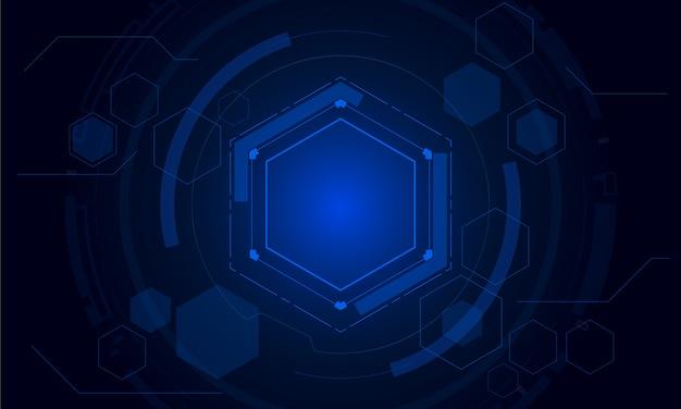 Sci fi sześciokątny futurystyczny wzór, innowacje przyszłości technologia tło,
