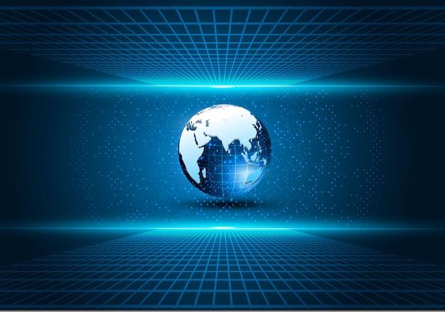 Sci fi technika cyber futurystycznego projekta pojęcia tło