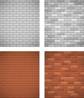 Ściana z białej i czerwonej cegły bezszwowe tło