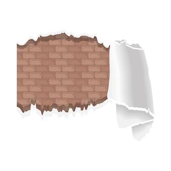 Ściana z farbą zniszczona
