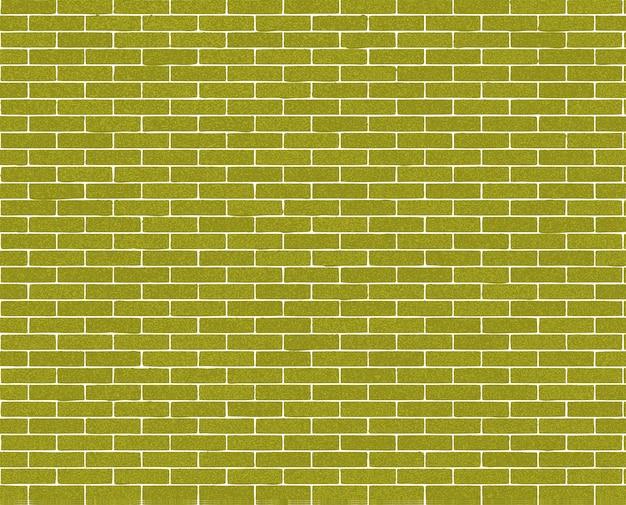 Ściany z cegły w kolorze zielonym.