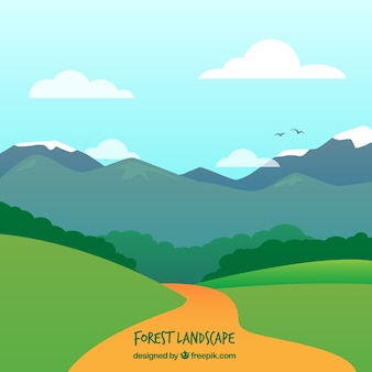 Ścieżka w krajobraz z gór