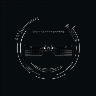 Scifi futurystyczny wektorowy hud pulpit nawigacyjny technologii wirtualnej rzeczywistości