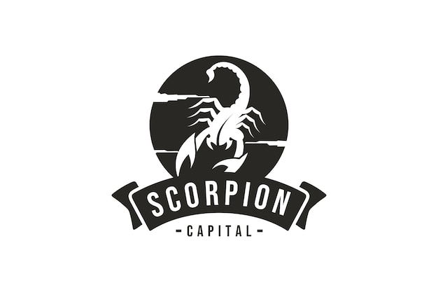 Scorpion logo wektor skorpion projekt w vintage logo