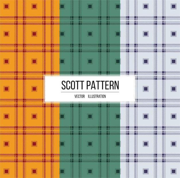 Scott tekstura wzór tkaniny