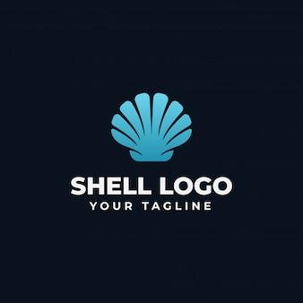 Sea shell pearl, ostryga, owoce morza, szablon projektu logo restauracji