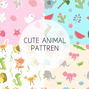 Seamles cute animal pattren