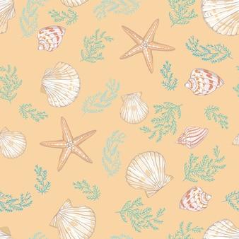Seashell bezszwowy wzór