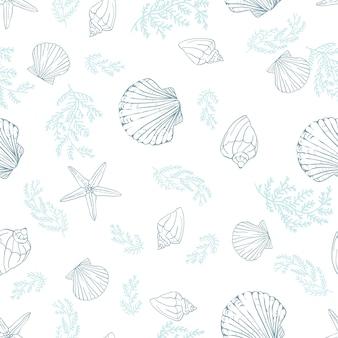 Seashell bezszwowy wzór.