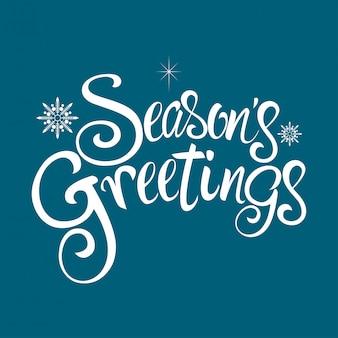 Seasons greetings text