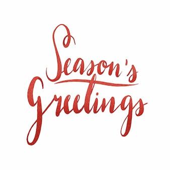 Seasons pozdrowienia akwarela typografia wektor