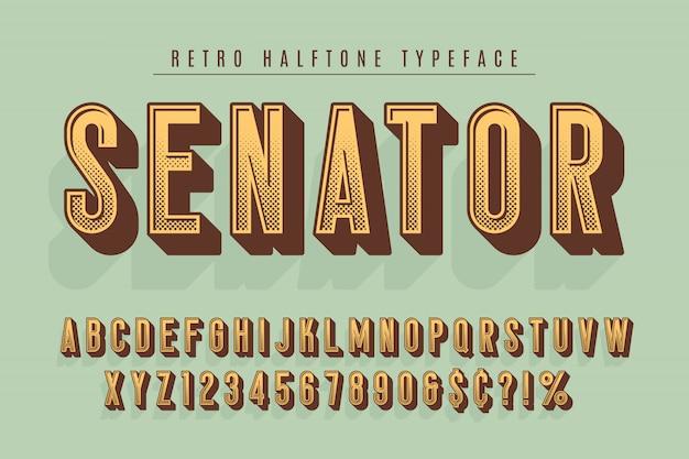 Senator modny wygląd czcionki w stylu vintage
