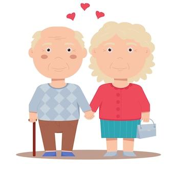Seniorzy są w sobie zakochani. dziadek i babcia.