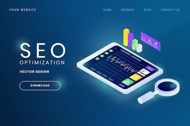 Seo wyszukiwanie optymalizacja silnika ilustracja