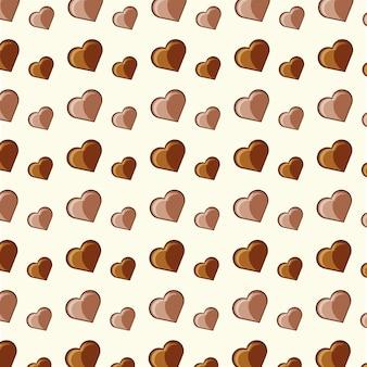 Serca czekoladowego tła
