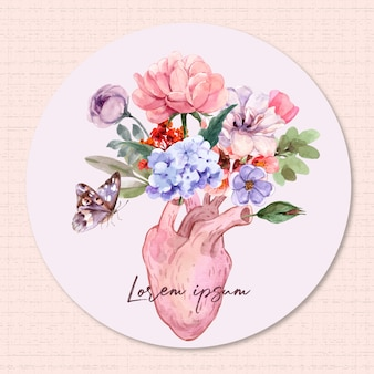 Serca i kwiaty.