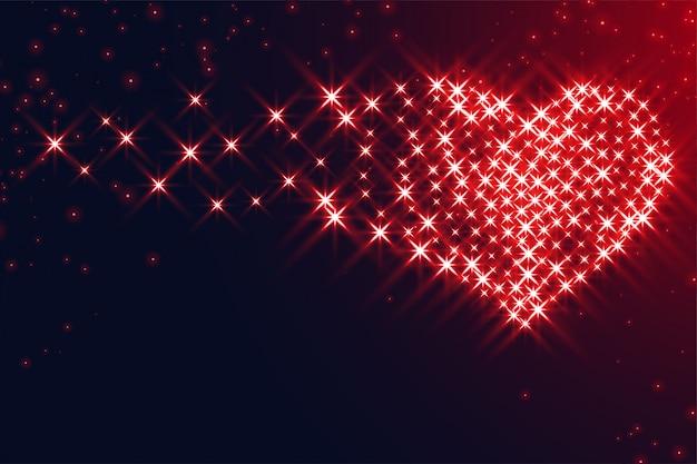 Serca wykonane z iskierkami na walentynki