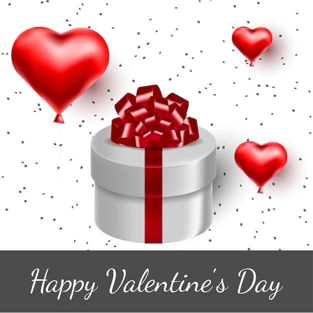 Serca z życzeniami i prezent