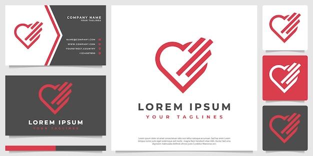 Serce abstrakcyjne logo nowoczesny minimalistyczny styl