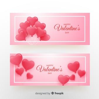 Serce balony valentine transparent