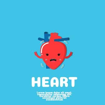Serce cartoon vector.human organ concept.