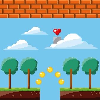 Serce gry pixel