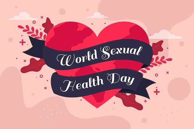 Serce i wstążki światowego dnia zdrowia seksualnego