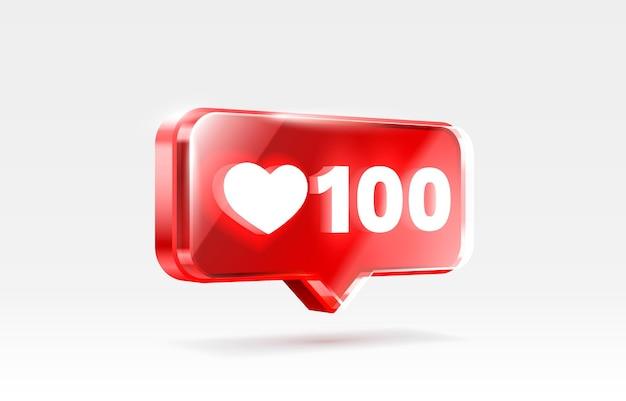 Serce jak ikona znak wyznawca d transparent miłość post wektor mediów społecznościowych