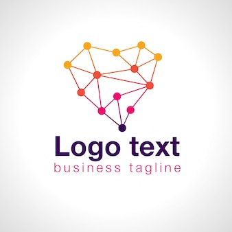 Serce kropkuje logo dla biznesu