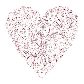 Serce kwiatowy walentynki