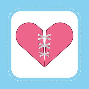 Serce mend to osobna koncepcja z sznurowadłami