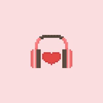 Serce pikseli z słuchawek
