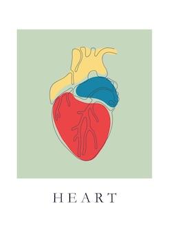 Serce pojedyncza linia ze słowem