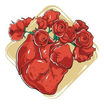 Serce rośnie róże