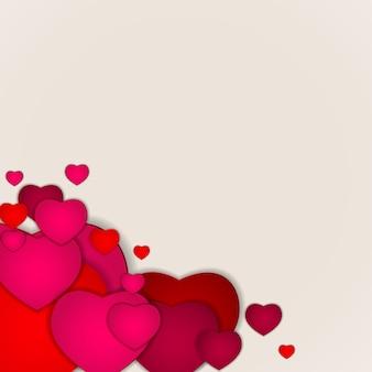 Serce różowe tło