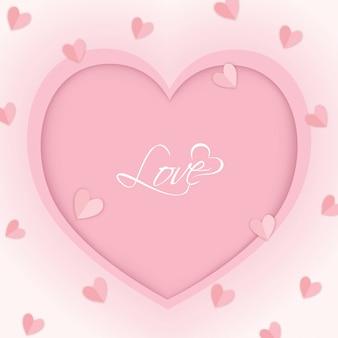Serce różowe